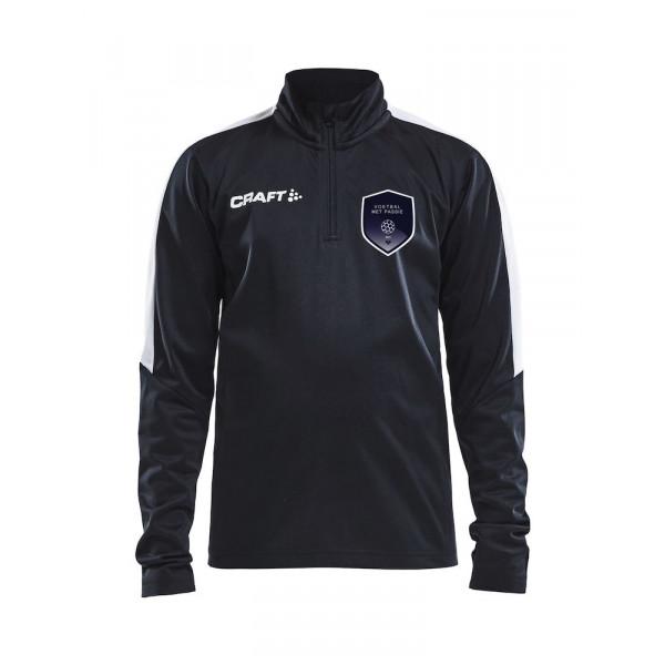 Voetbal met Passie trainingtop junior (zwart)