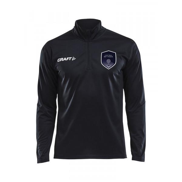 Voetbal met Passie trainingtop senior (zwart)